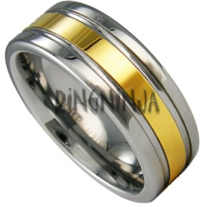 Tungsten and 18k gold tungsten wedding ring tungsten for Tungsten wedding ring reviews